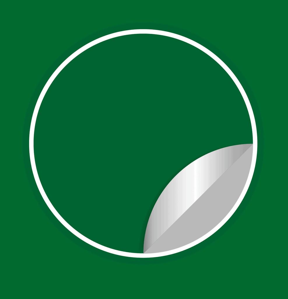 מדבקה ירוקה